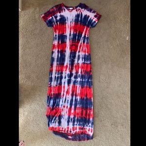 "Lularoe Americana ""Maria"" floor length maxi dress"